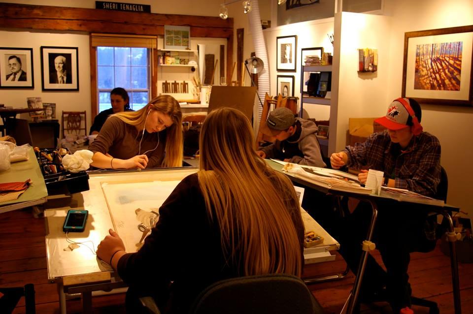 Inside the art studio classroom