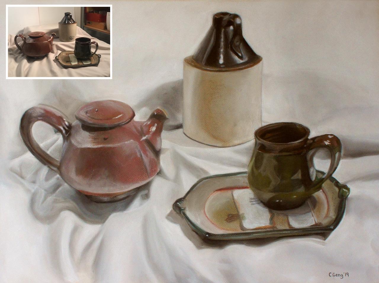 C. Geng - Pottery Still Life - Teen Class