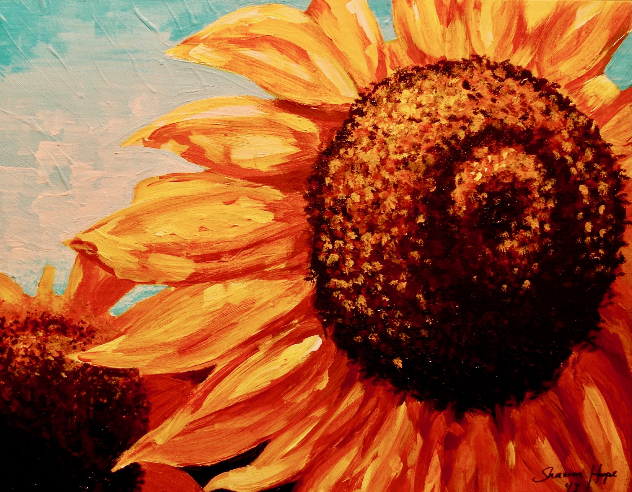 S. Hope - Sunflower - Acrylic - Teen Class -Study